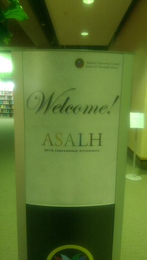 ASALH Welcome Sign at AUC